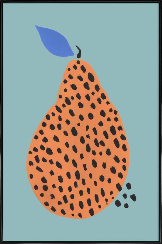 Joyful Fruits - Pear -Bild mit Kunststoffrahmen