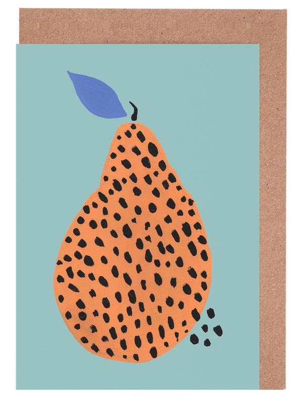 Joyful Fruits - Pear Greeting Card Set