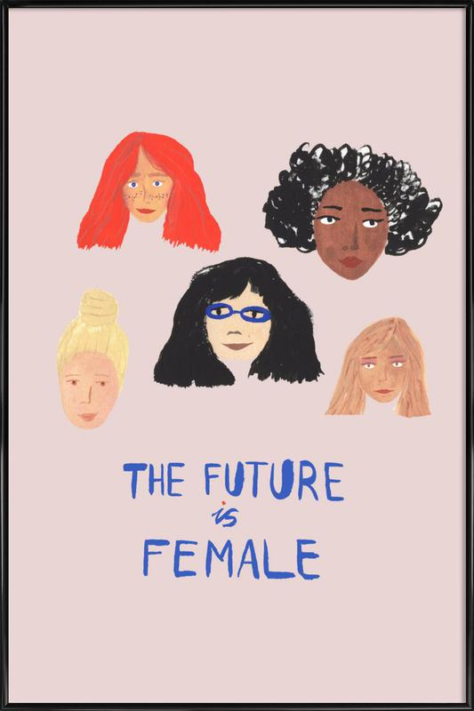 The Future is Female Framed Poster