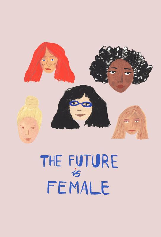 The Future is Female Aluminium Print