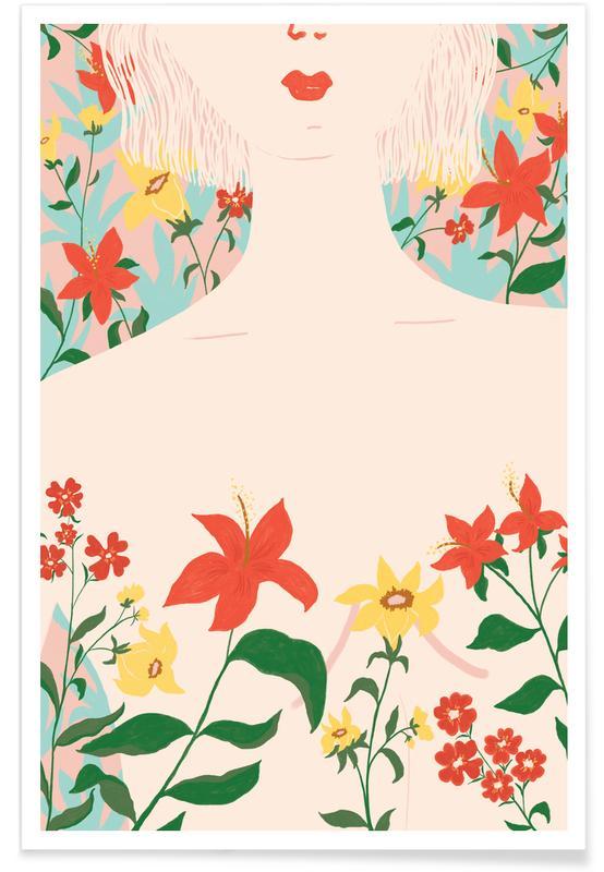 Portraits, Soul full of Flowers Poster