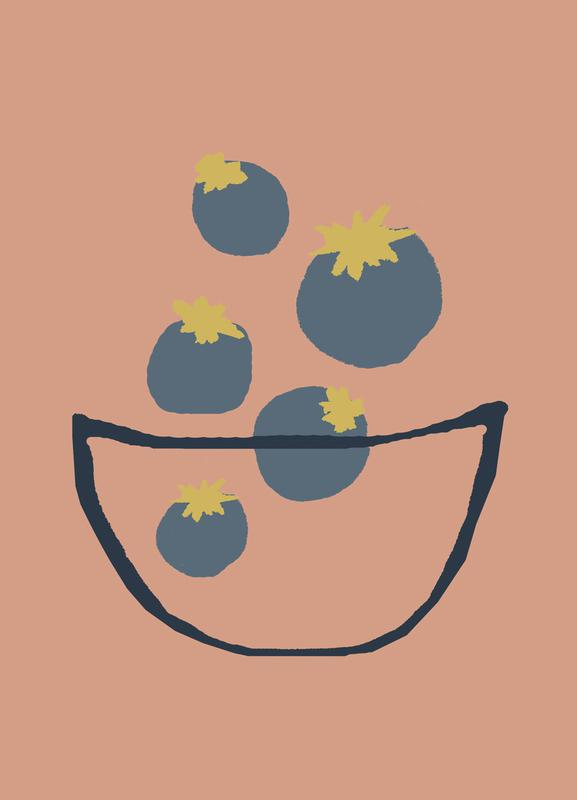 Joyful Fruits - Blueberries Canvas Print