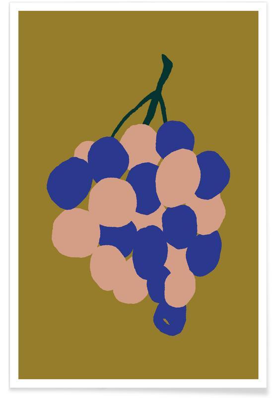 Joyful Fruits - Grapes -Poster
