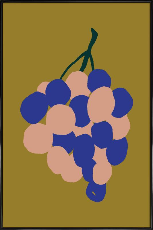 Joyful Fruits - Grapes ingelijste poster