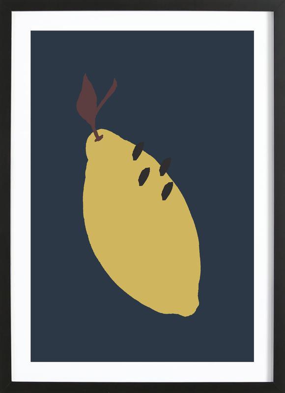 Joyful Fruits - Lemon Framed Print