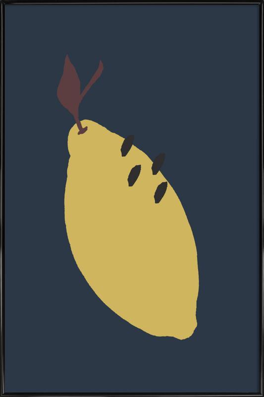 Joyful Fruits - Lemon -Bild mit Kunststoffrahmen