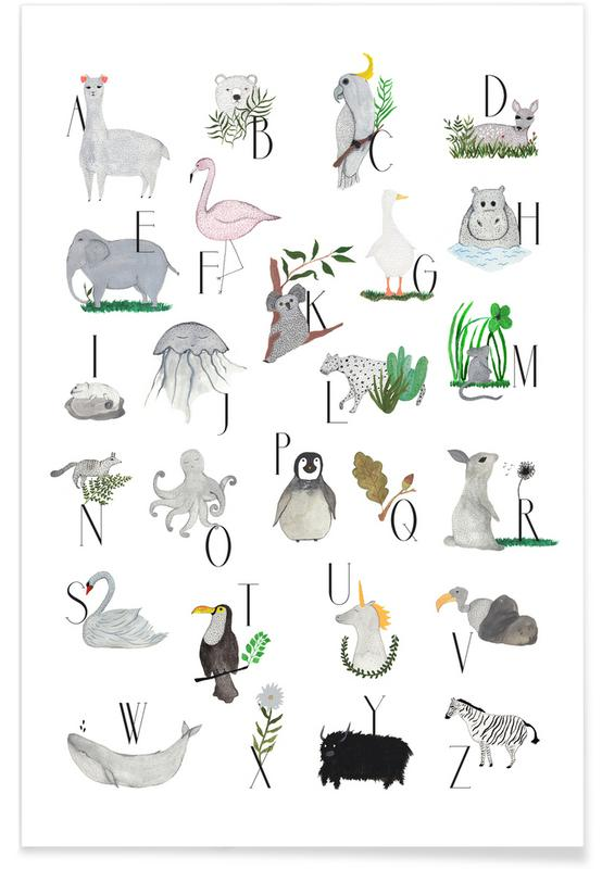 Animals with Letters affiche