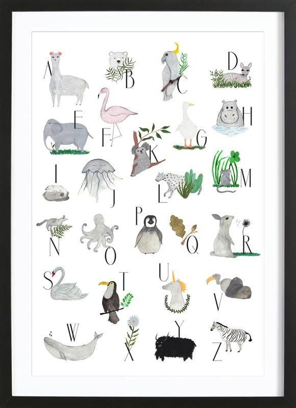Animals with Letters ingelijste print