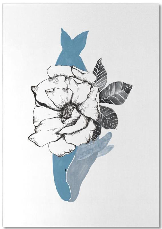 Floral Whale Notepad