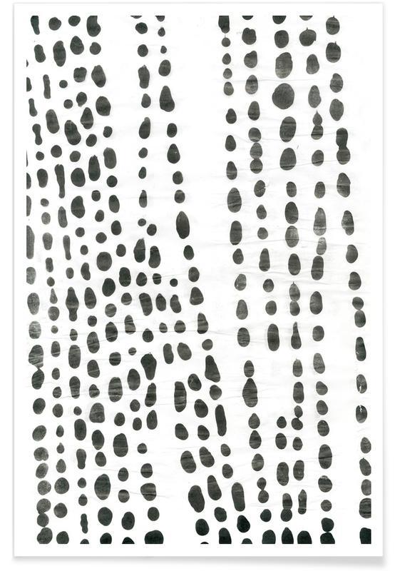 Noir & blanc, Organical Texture affiche