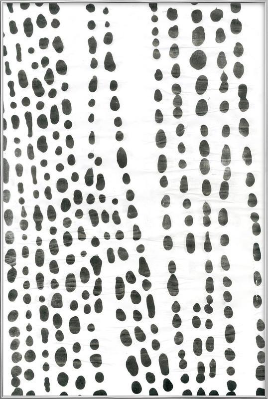 Organical Texture affiche sous cadre en aluminium