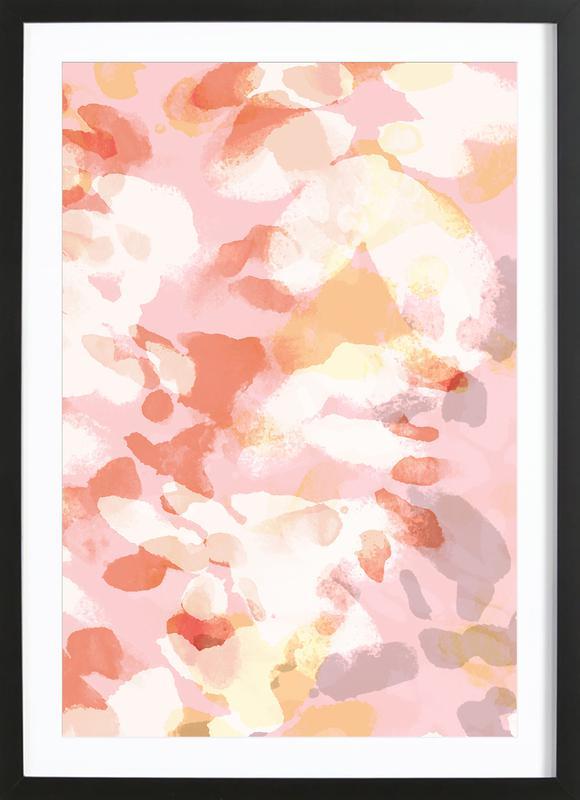 Floral Pastell affiche sous cadre en bois