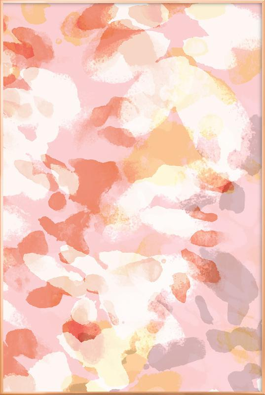 Floral Pastell Poster in Aluminium Frame