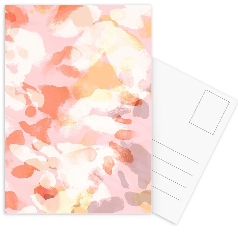 Floral Pastell -Postkartenset