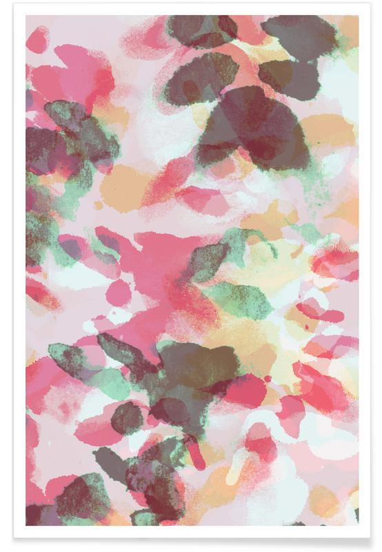 Floral Aquaellic Poster