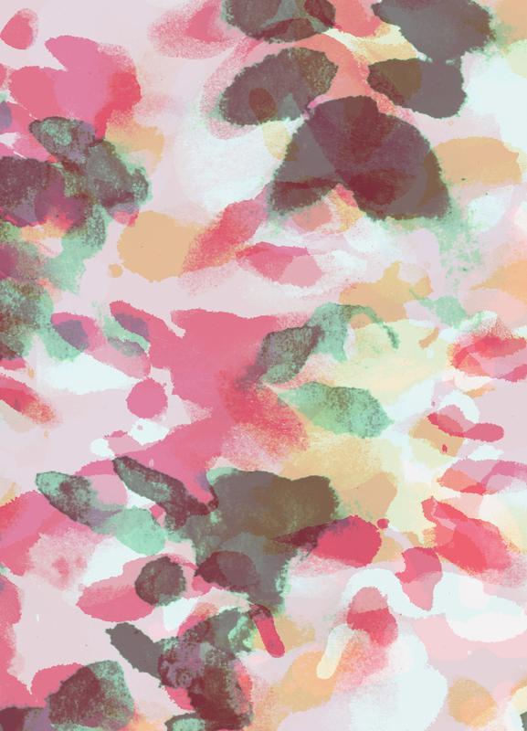 Floral Aquaellic canvas doek