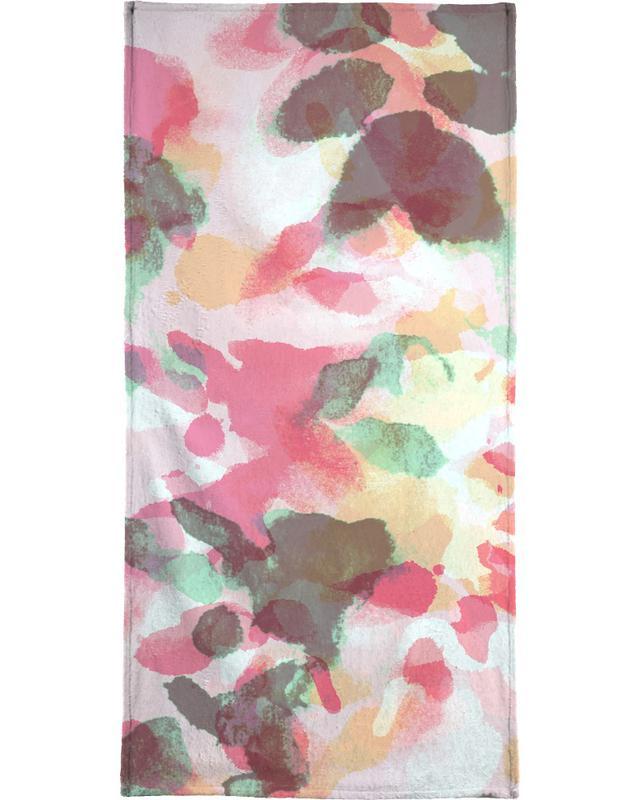 Floral Aquaellic serviette de plage