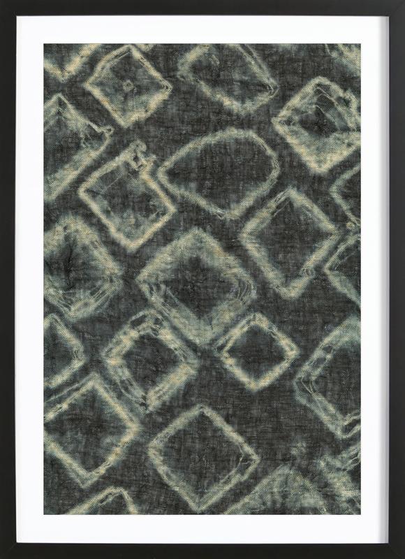 Textile Study Bordeaux Framed Print