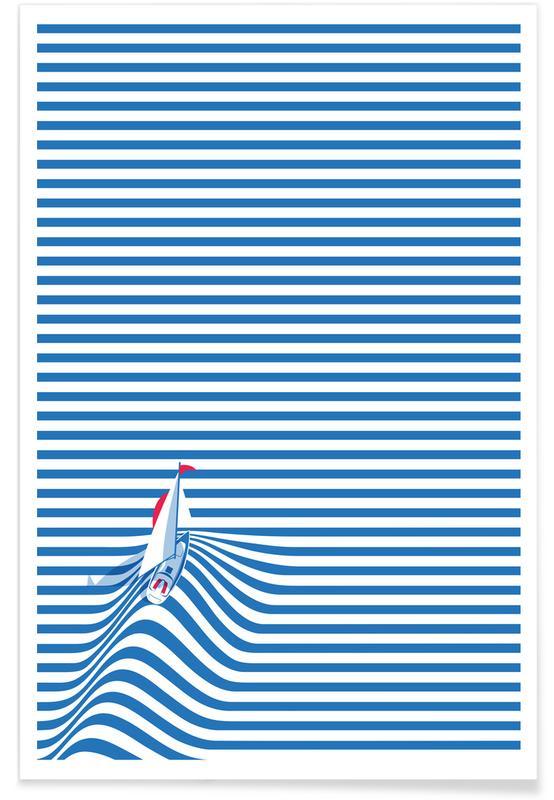 Boats, Travel, Sail Away Poster