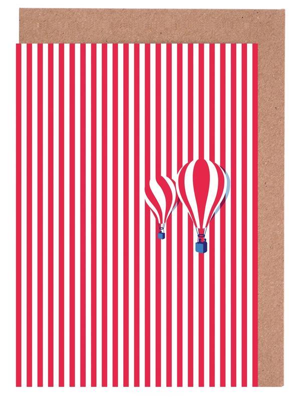 High Balloon -Grußkarten-Set