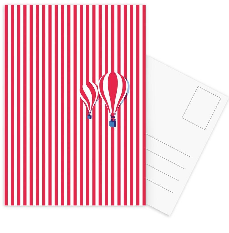 High Balloon -Postkartenset