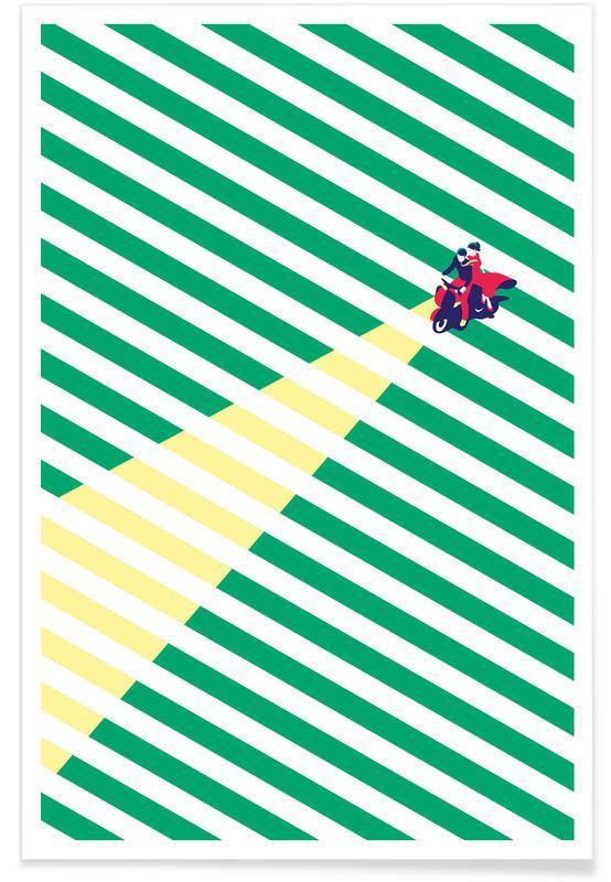 Motorcykler, Rejser, Vespa Love Plakat