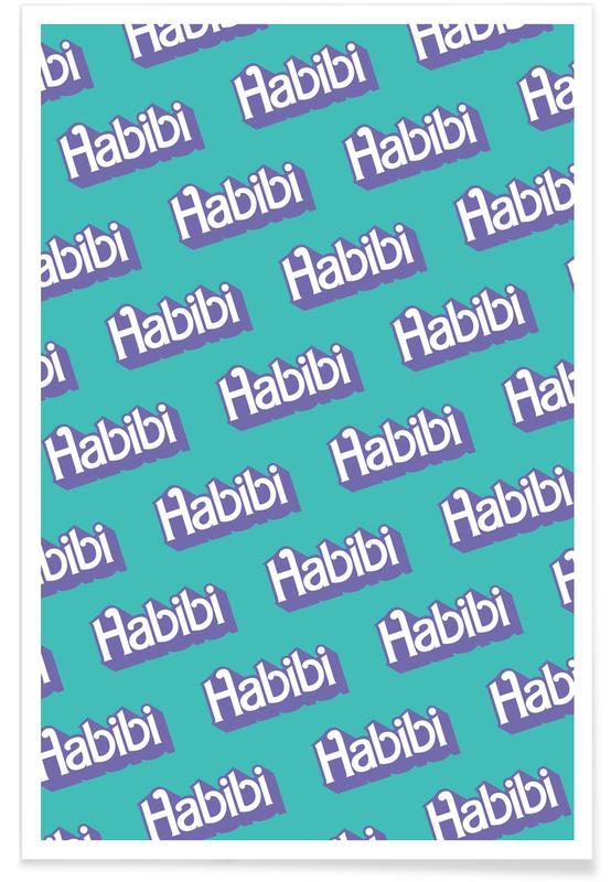 , Habibi Pattern poster