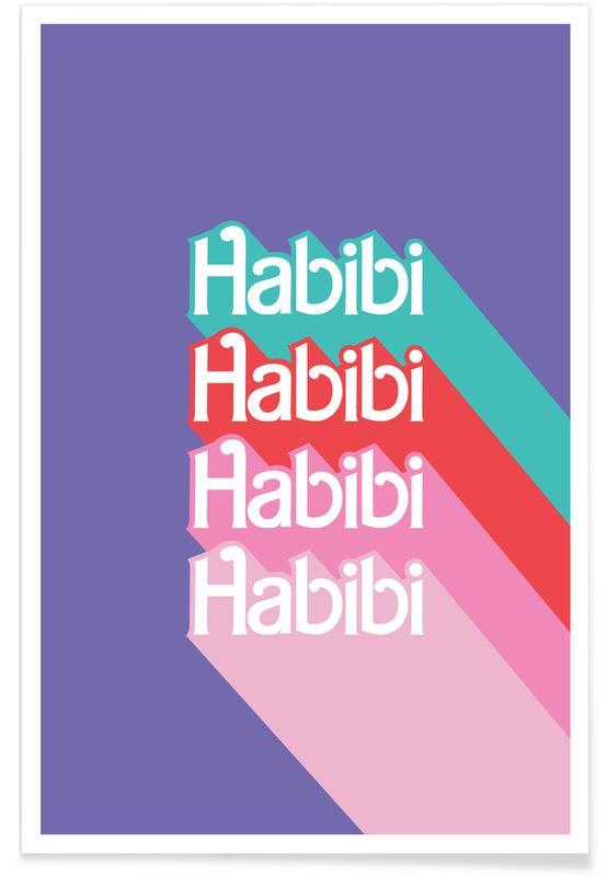 Habibi Rainbow Poster