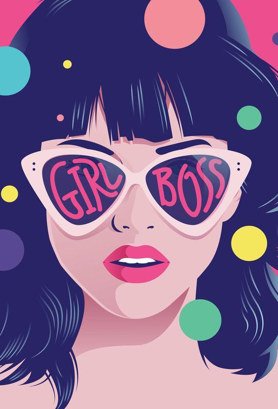 Girl Boss Aluminium Print