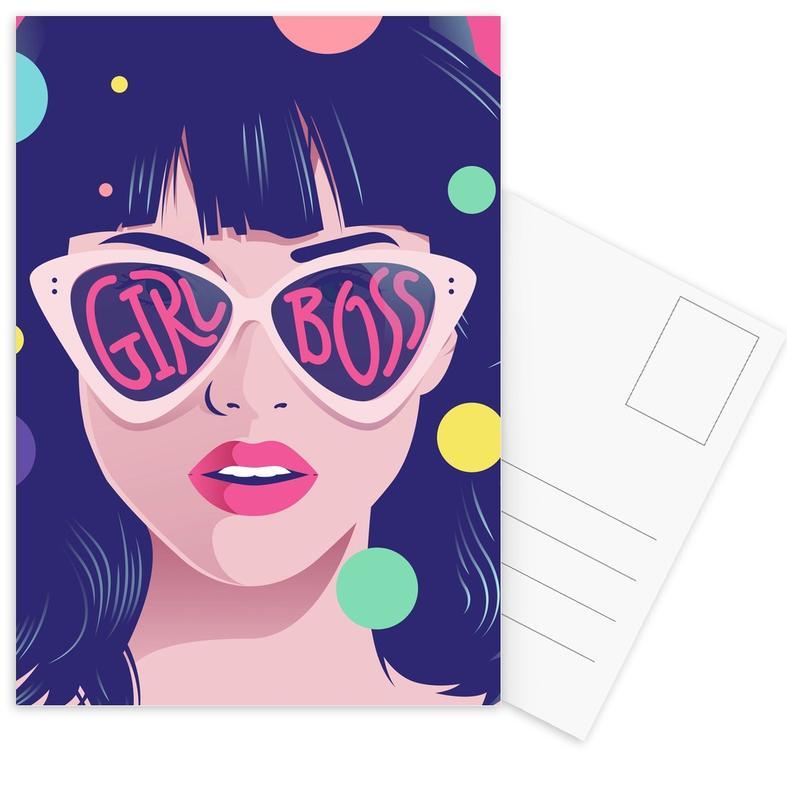 Girl Boss -Postkartenset