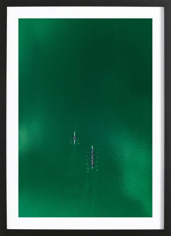 Green Team -Bild mit Holzrahmen