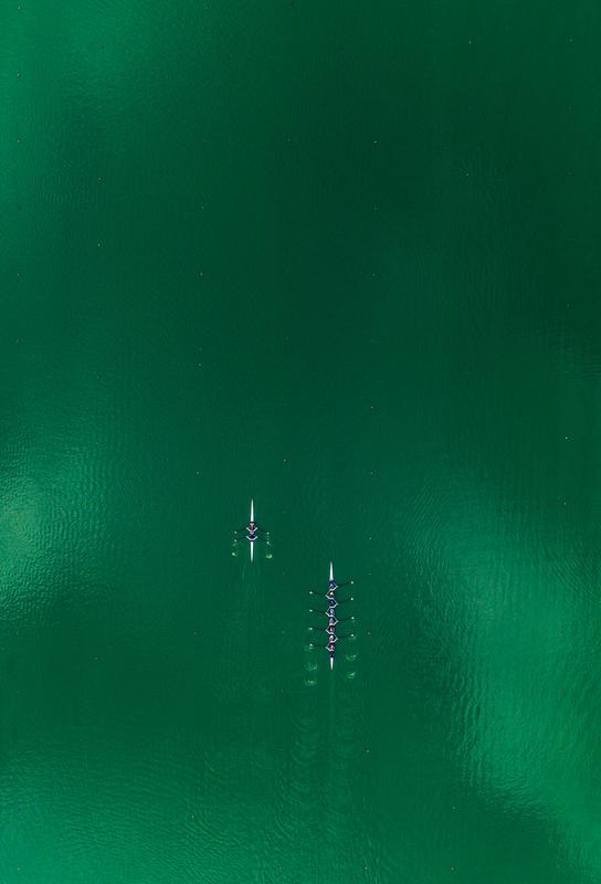Green Team -Acrylglasbild