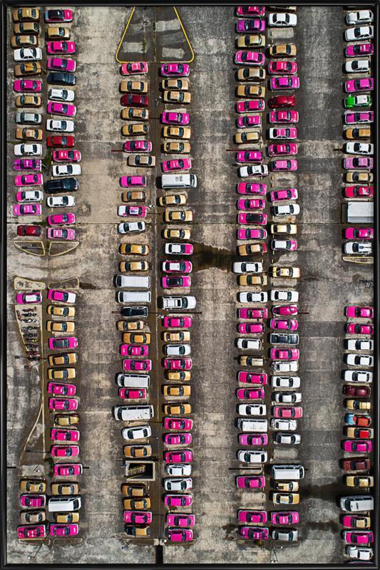 Taxi -Bild mit Kunststoffrahmen