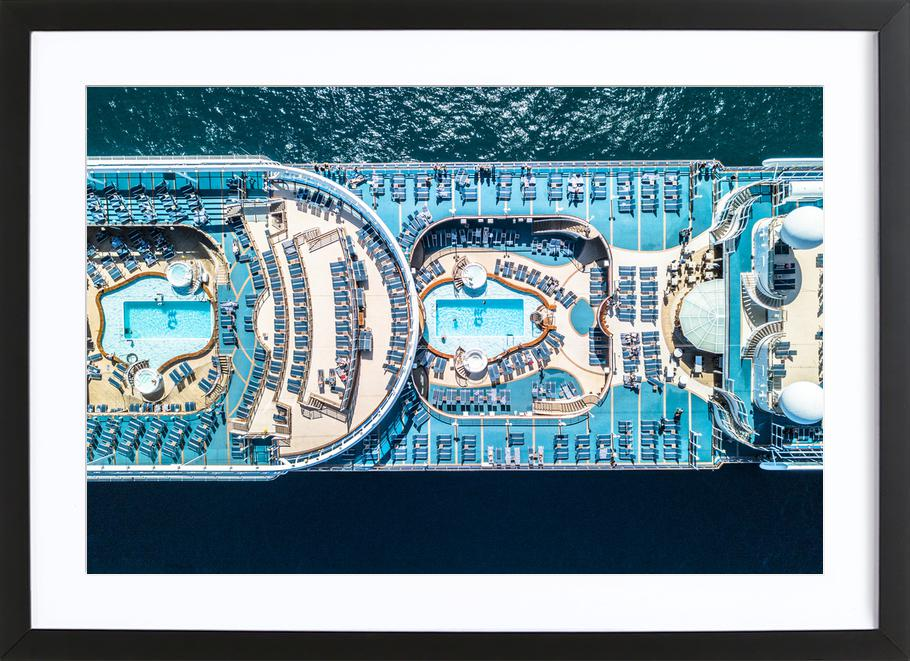 Cruise -Bild mit Holzrahmen