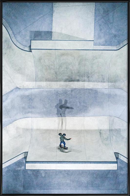 Skate ingelijste poster