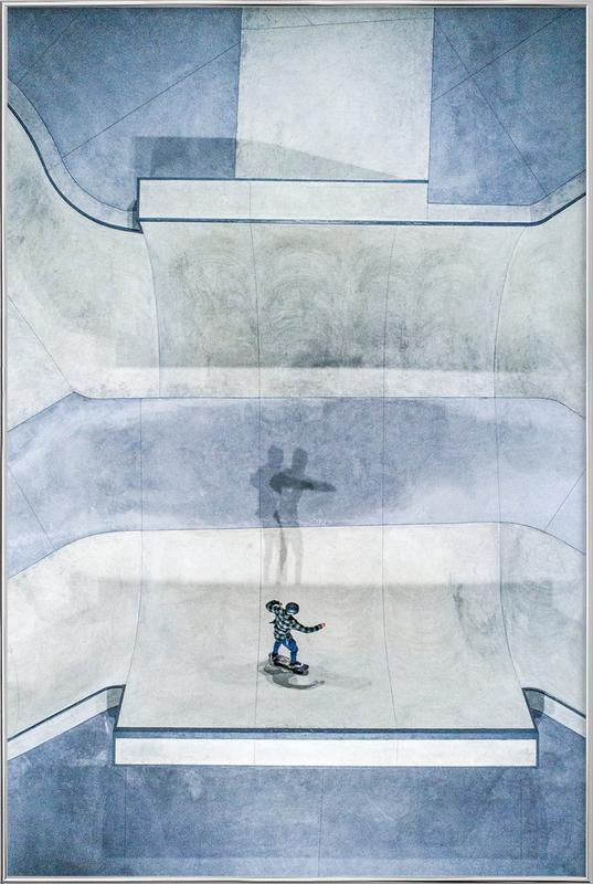 Skate Poster in Aluminium Frame