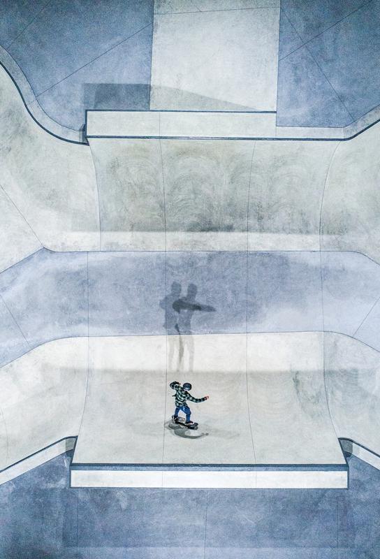 Skate Impression sur alu-Dibond