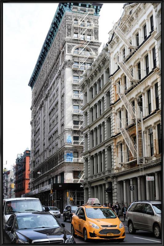 New York -Bild mit Kunststoffrahmen