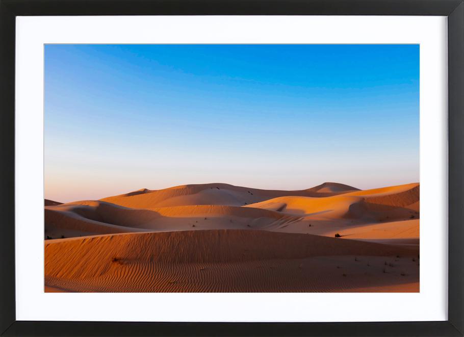 Sands -Bild mit Holzrahmen