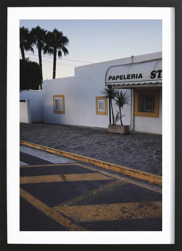 Ibiza -Bild mit Holzrahmen