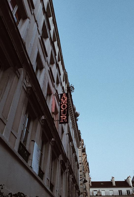 Amour Toujours -Acrylglasbild