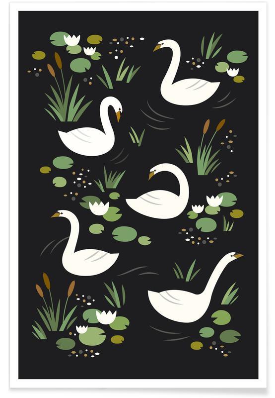 Kunst voor kinderen, Zwanen, Swan Lake poster
