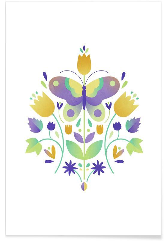 Butterflies, Nursery & Art for Kids, Harbingers Of Spring Poster