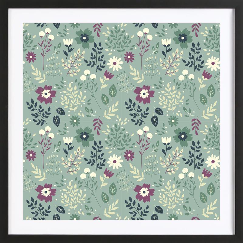 Frühlingswiese Framed Print