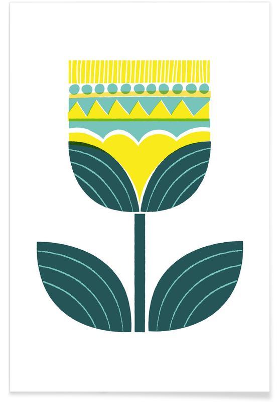 Scandinavian Flower Poster
