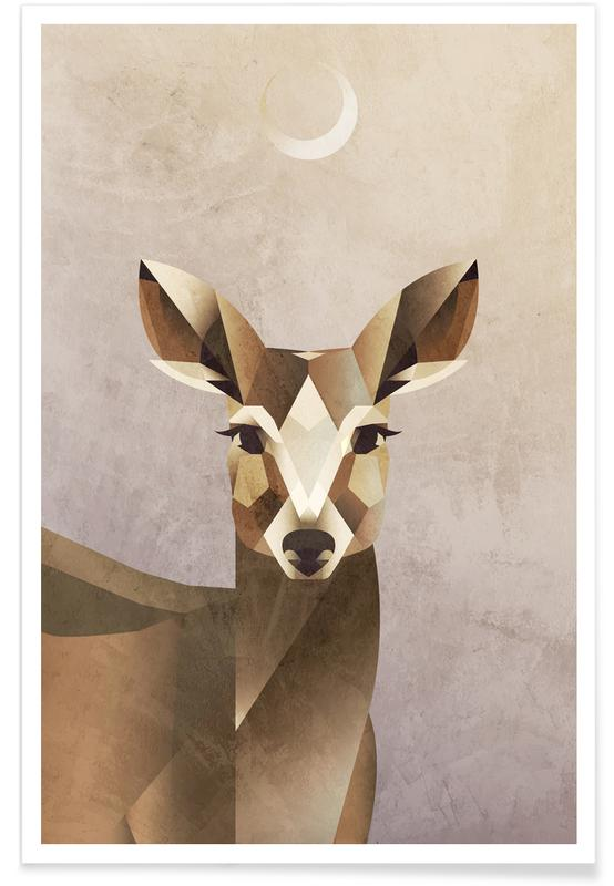 Deer, Nursery & Art for Kids, Dawn Deer Poster