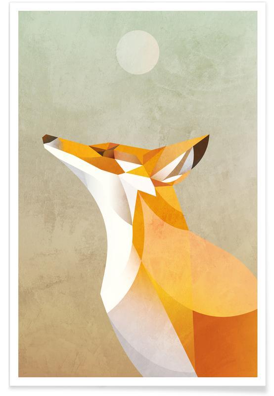 Foxes, Nursery & Art for Kids, Morning Fox Poster
