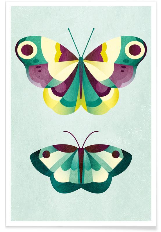 Vlinders, Kunst voor kinderen, Schmetterlinge poster