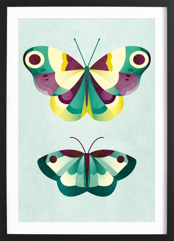 Schmetterlinge ingelijste print