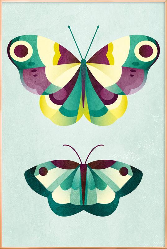 Schmetterlinge poster in aluminium lijst